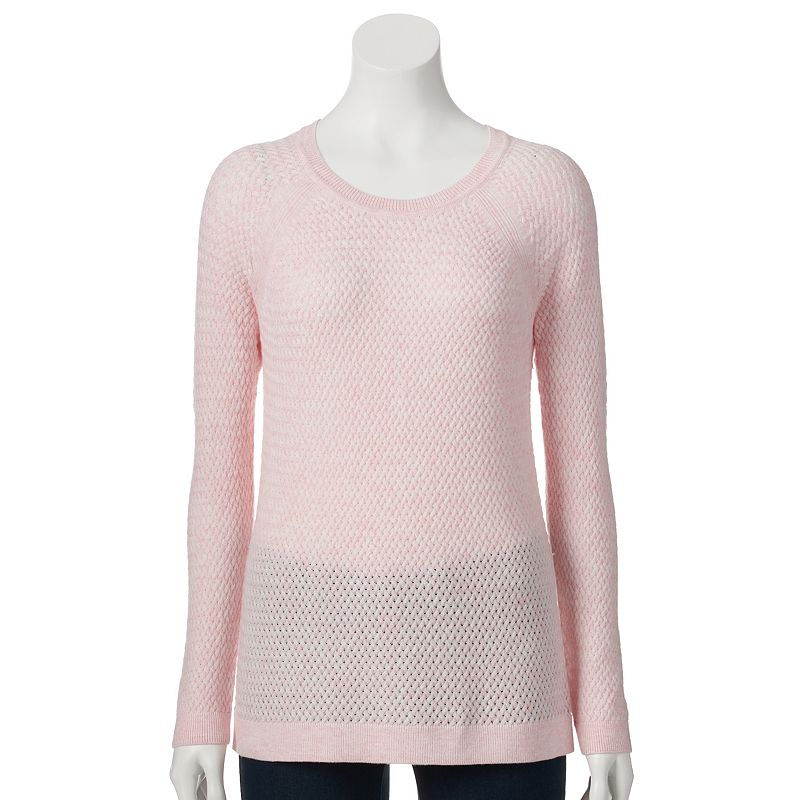 Petite SONOMA Goods for Life™ Basketweave Crewneck Sweater
