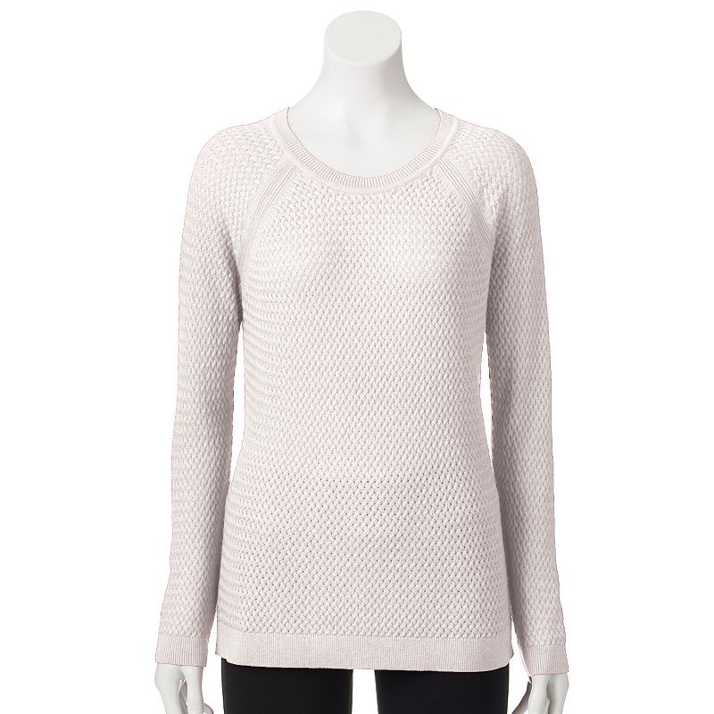 Petite SONOMA Goods for Life™ Basketweave Crewneck Sweater