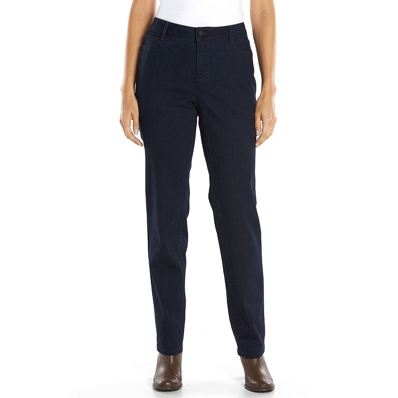 Croft & Barrow® Curvy Slimming Straight-Leg Jeans - Women's