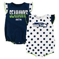 Baby Seattle Seahawks Polka-Dot Bodysuit Set