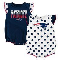 Baby New EnglandPatriots Polka-Dot Bodysuit Set