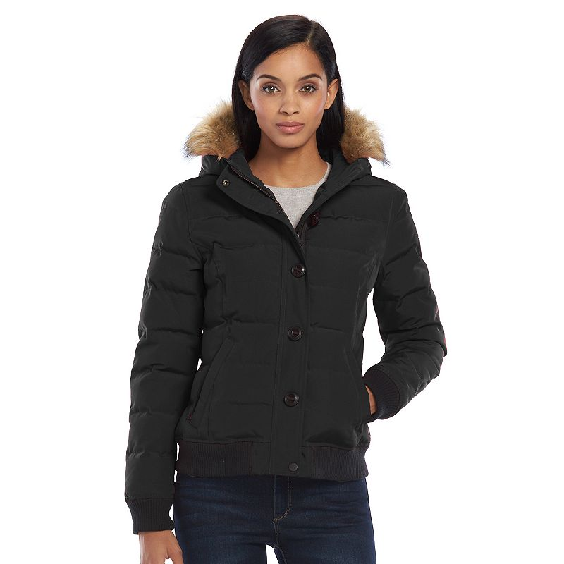Women's Levi's Hooded Quilted Bomber Jacket