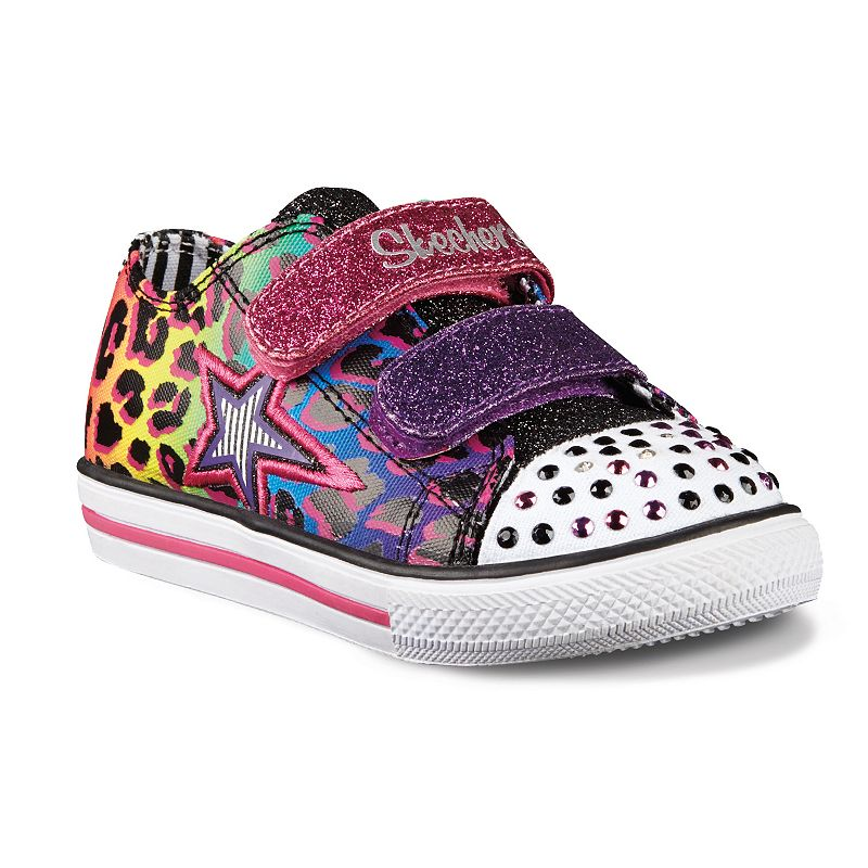 Skechers Chit Chat Glint & Glam Toddler Girls' Light-Up Sneakers