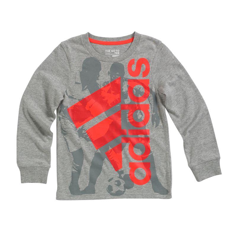 Boys 4-7x Adidas Go-To Sports Player Tee, Boy's, Size: 5, Grey