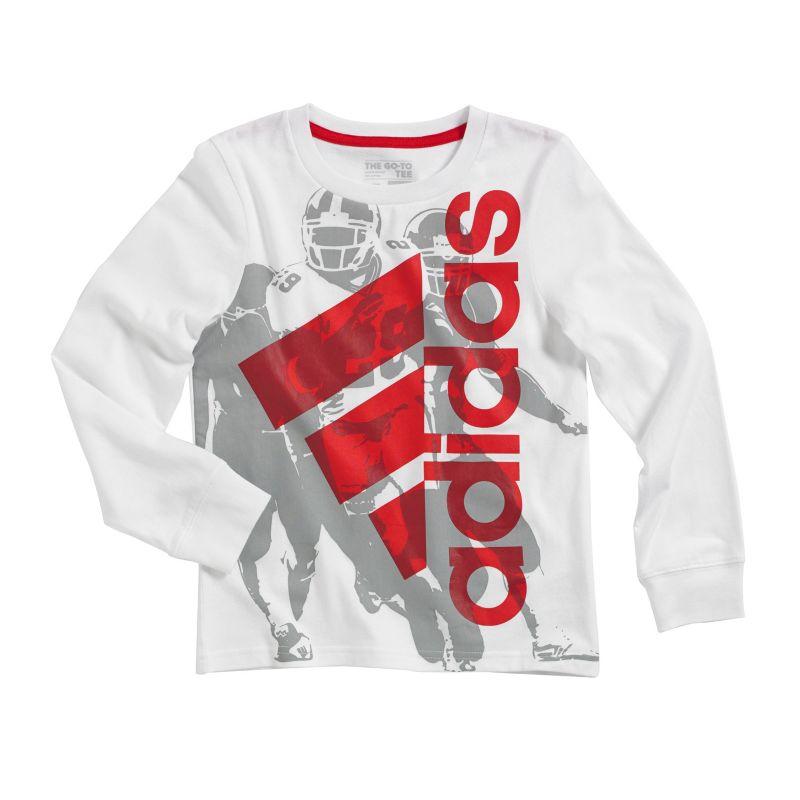 Boys 4-7x Adidas Go-To Sports Player Tee, Boy's, Size: 4, White