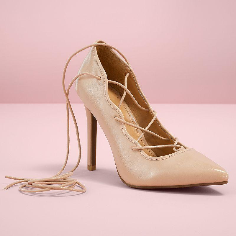 LC Lauren Conrad Runway Collection Lace-Up Women's High Heels