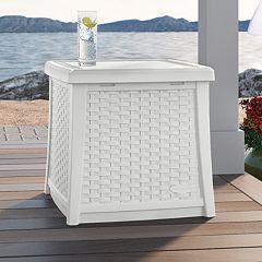 Suncast Side Table Storage Box Outdoor