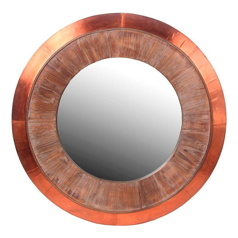 Privilege Round Copper Wall Mirror
