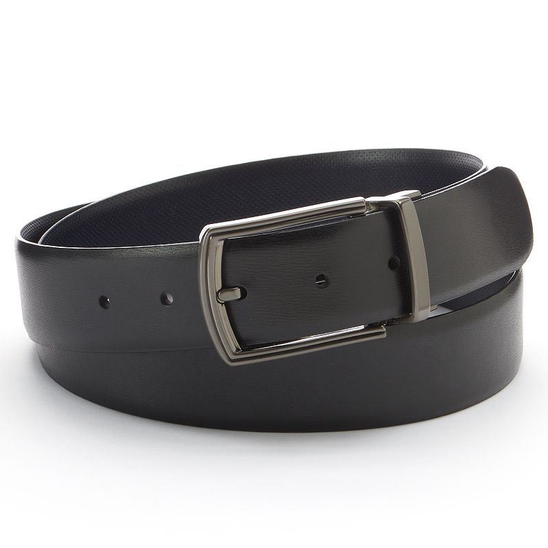 Men's Apt. 9 Black Navy Reversible Belt