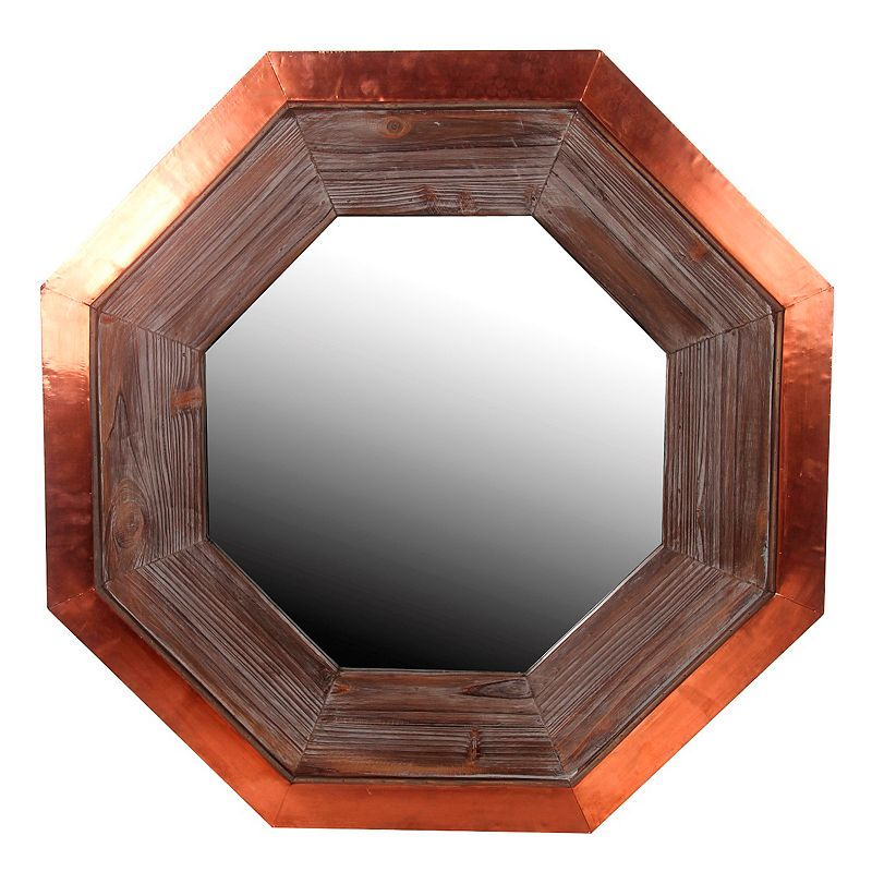 Privilege Hexagonal Copper Wall Mirror