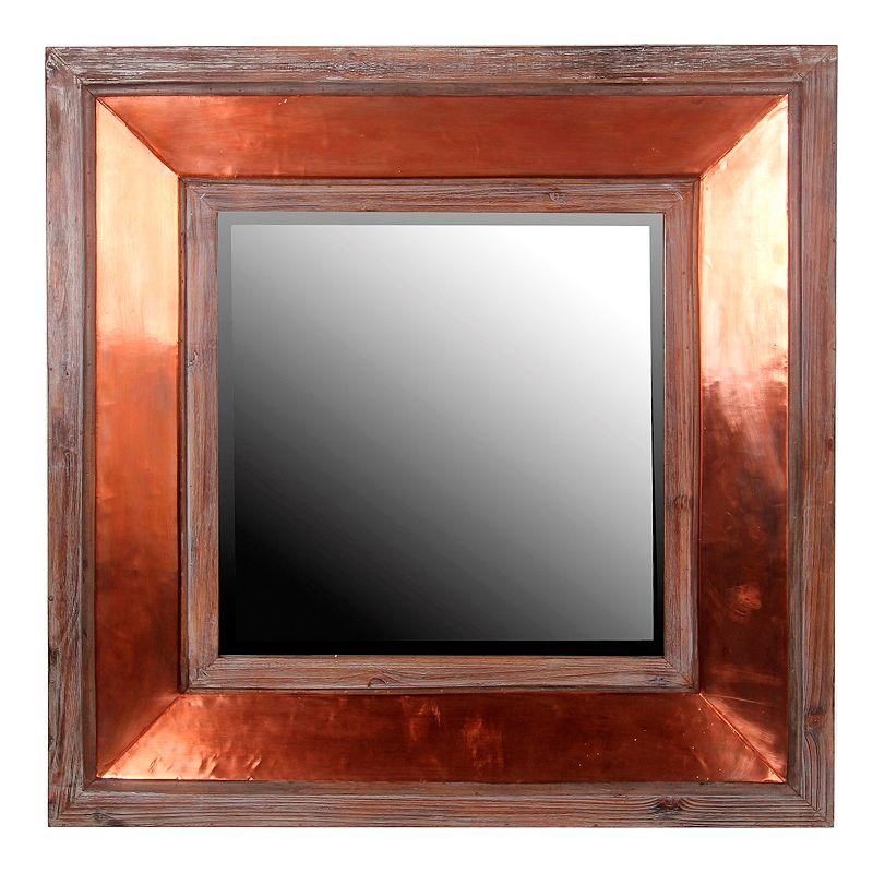 Privilege Square Copper Wall Mirror