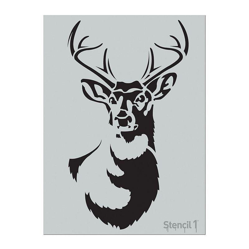 Stencil1 Antler Deer Stencil