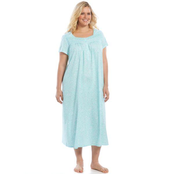 Plus Size Croft & Barrow® Pajamas: Pintuck Knit Nightgown