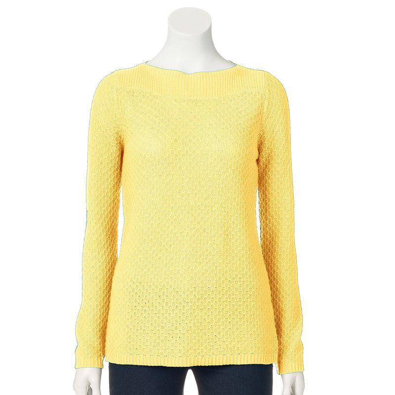 Women's Croft & Barrow® Textured Boatneck Sweater