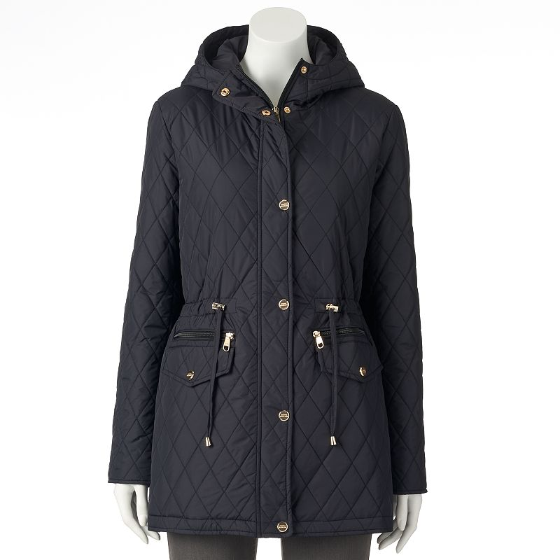 Women's Triple Star Hooded Quilted Anorak Jacket