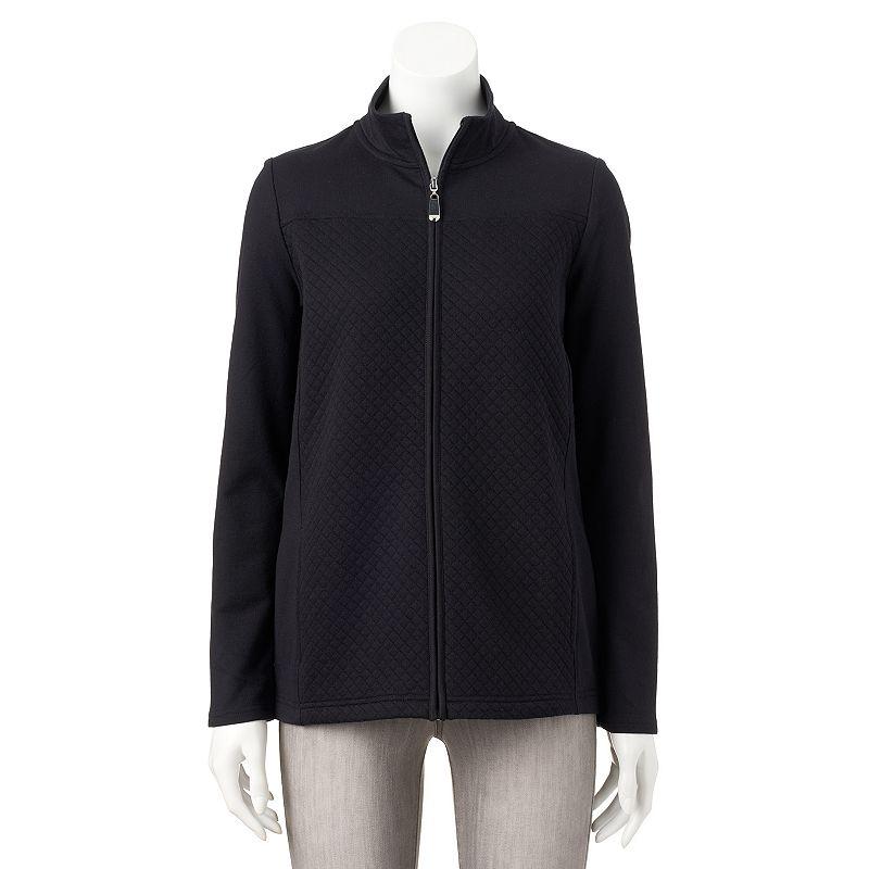 Women's Croft & Barrow® Quilted Mockneck Jacket