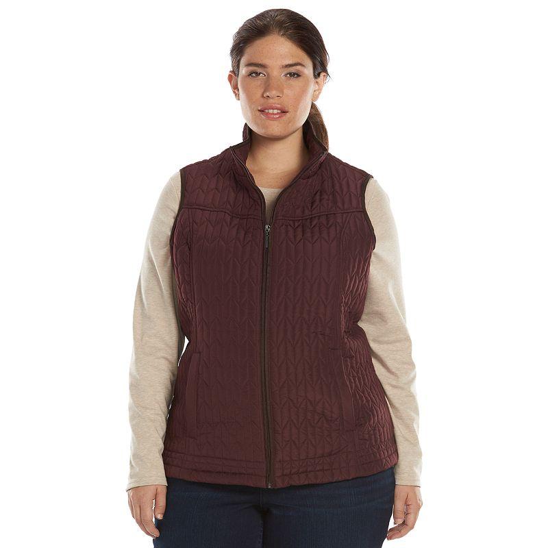 Plus Size Weathercast Mockneck Quilted Vest