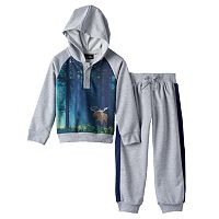 Only Kids Apparel Moose Henley Hoodie & Pants Set - Toddler Boy