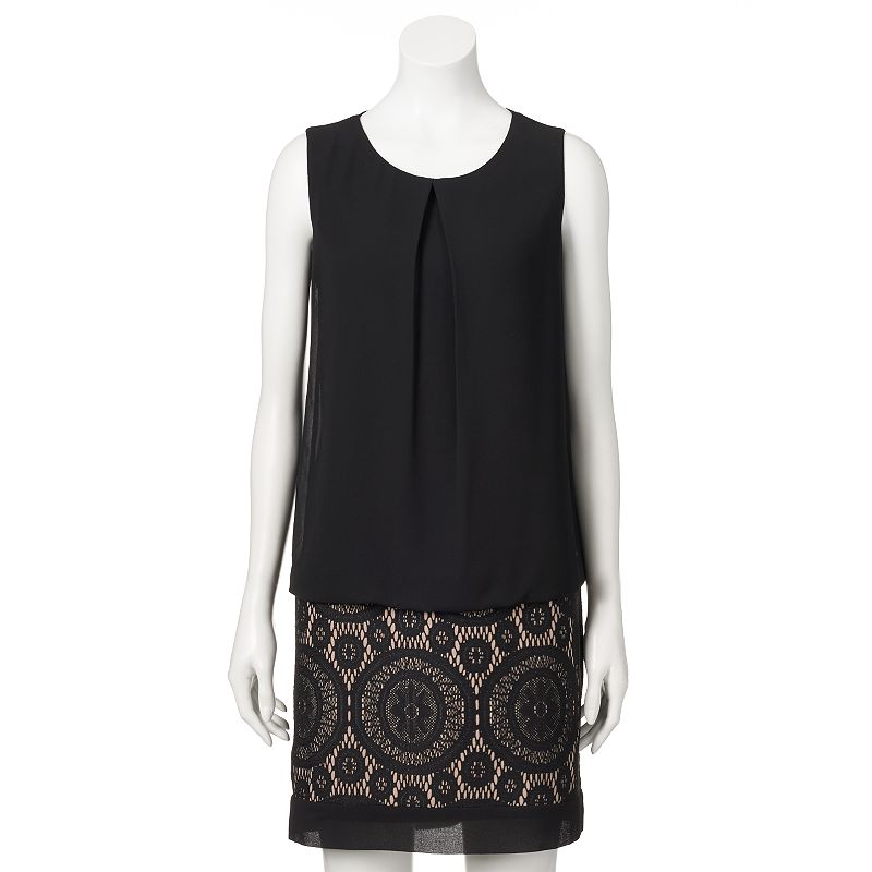 Women's AB Studio Lace Blouson Dress