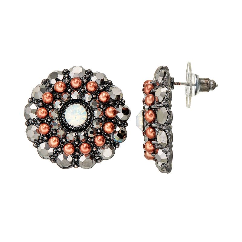 GS by gemma simone Atomic Age Collection Circle Stud Earrings