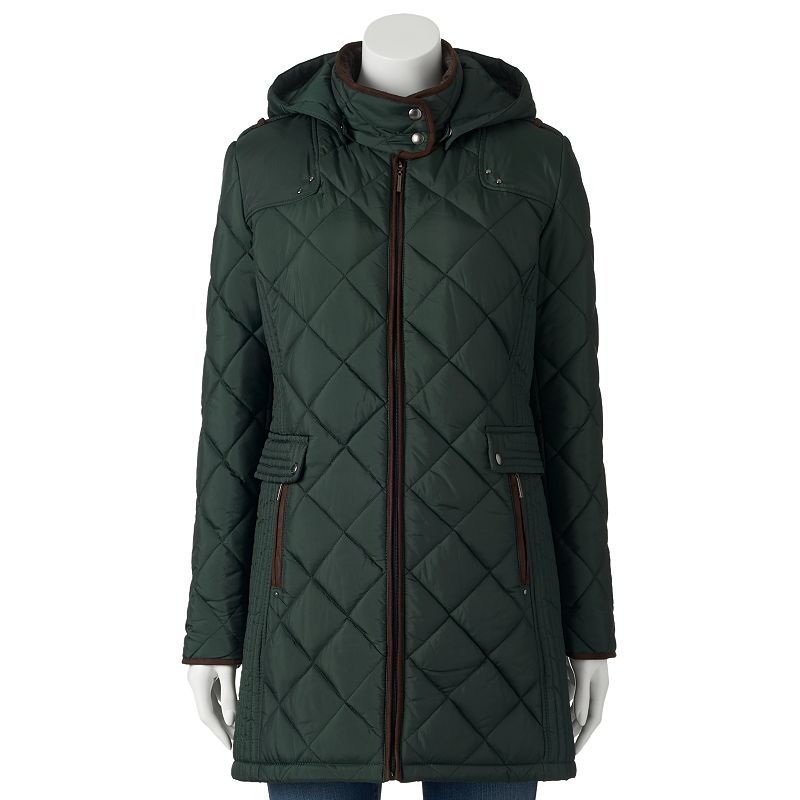 Women's Weathercast Hooded Quilted City Jacket