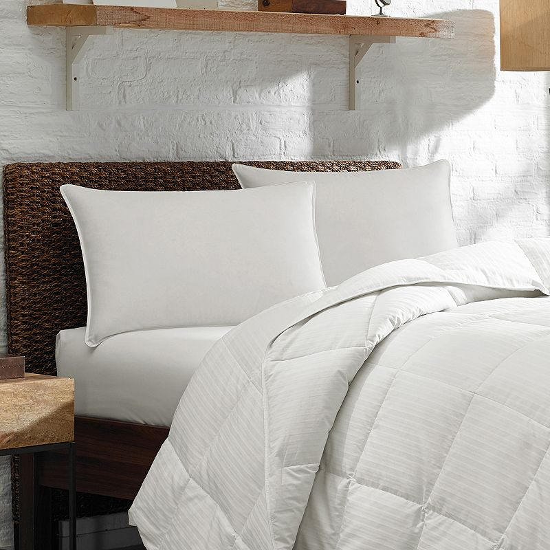 Eddie Bauer Plush Top 400-Thread Count Pima Cotton Sateen Firmer Down & Feather Chamber Pillow