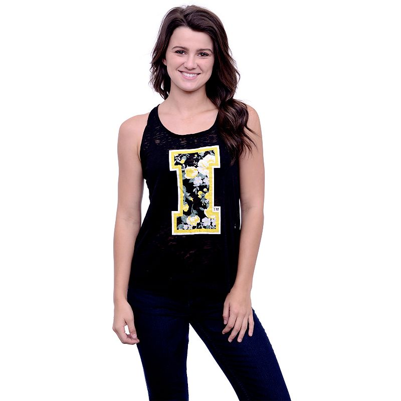 Women's Iowa Hawkeyes Burnout Floral Tank Top