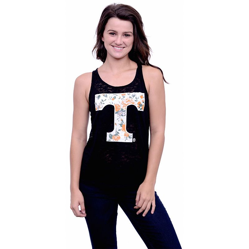 Women's Tennessee Volunteers Burnout Floral Tank Top