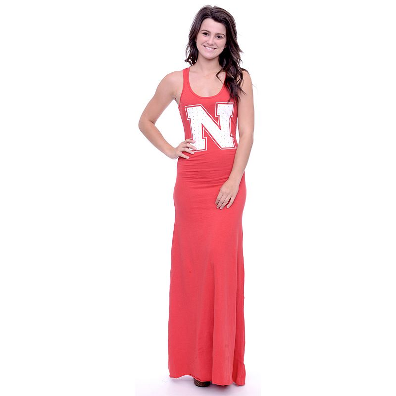 Women's Nebraska Cornhuskers Lucky Charm Maxi Dress