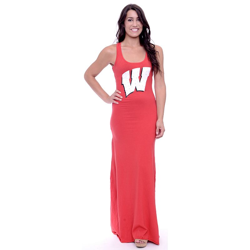 Women's Wisconsin Badgers Lucky Charm Maxi Dress