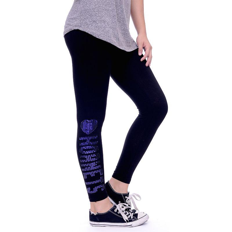 Women's Charlotte Hornets Sequin Leggings