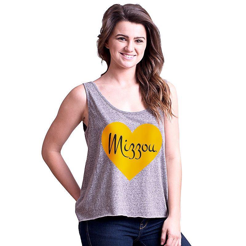 Juniors' Missouri Tigers Heartbeat Tank Top