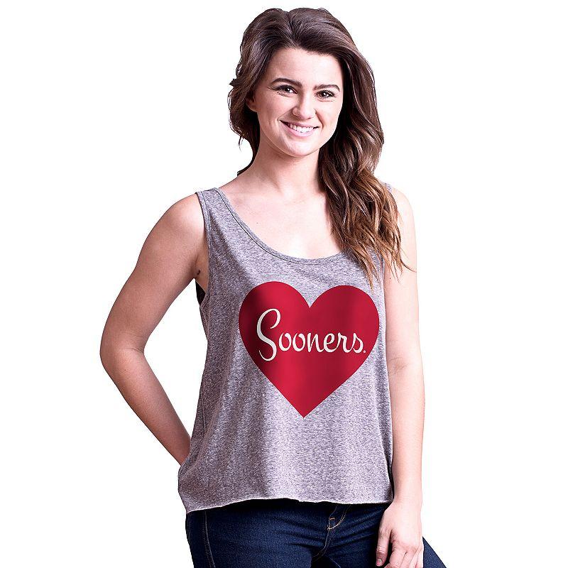 Juniors' Oklahoma Sooners Heartbeat Tank Top
