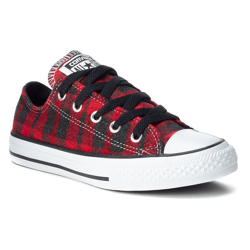 Kid's Converse All Star Plaid Flannel Sneakers