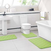 VCNY Ogee 3-pc. Memory Foam Bath Rug Set