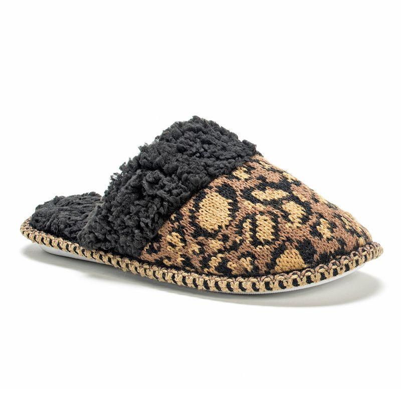 MUK LUKS Women's Fairisle Knit Scuff Slippers