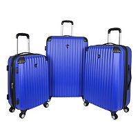 Travelers Club Chicago 3-Piece Expandable Hardside Wheeled Luggage Set (Blue or Pink)