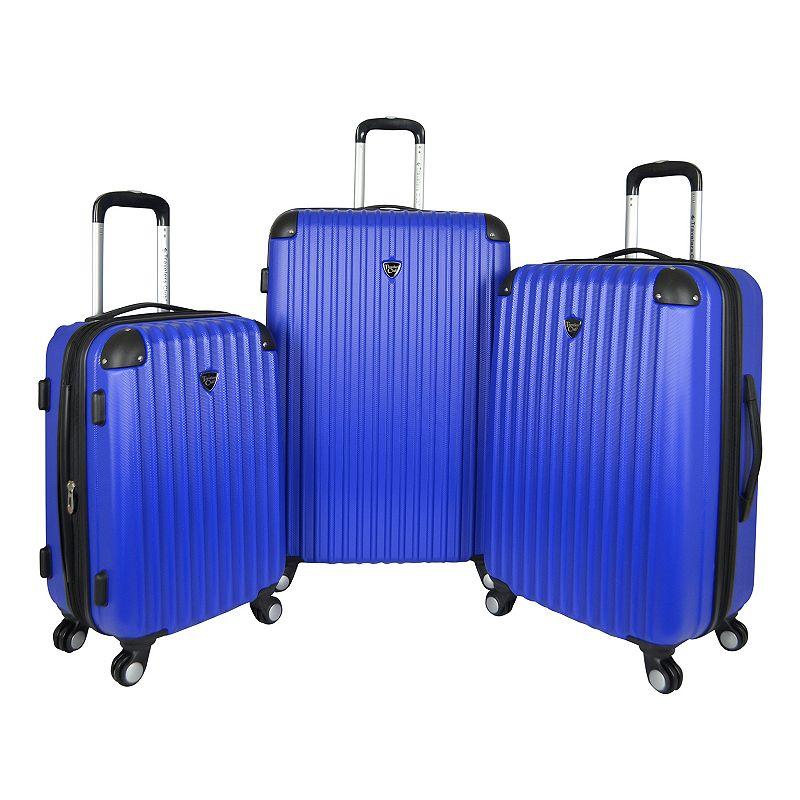Travelers Club Chicago 3-Piece Hardside Spinner Luggage Set