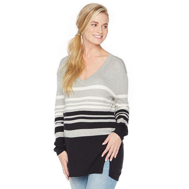 Maternity Oh Baby by Motherhood™ Striped V-Neck Sweater