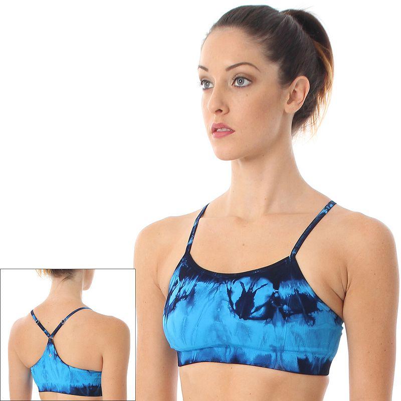 NUX Bra: Tie-Dye Racerback Sports Bra B589 - Women's