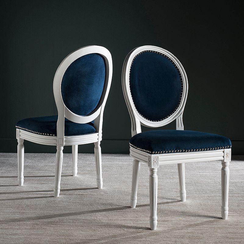 Safavieh Holloway Velvet Oval Side Chair 2-Piece Set