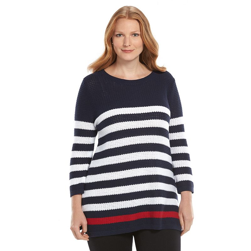 Plus Size Croft & Barrow® Textured Tunic Sweater