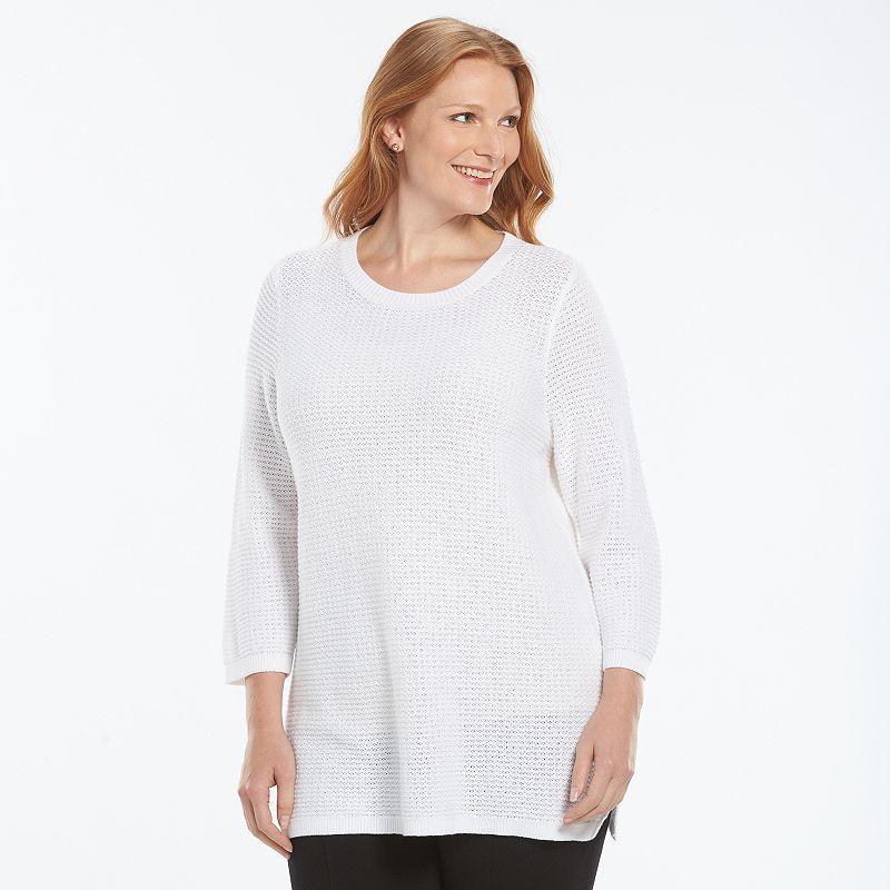 Plus Size Croft & Barrow® Textured Tunic Sweater