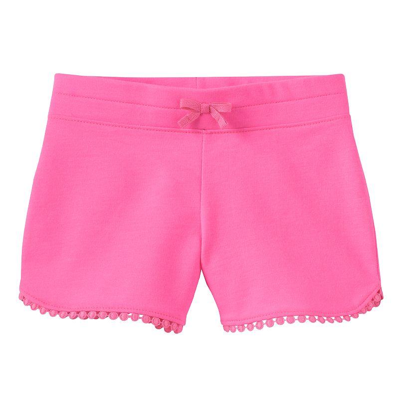 Jumping Beans® Toddler Girl Crochet Trim Shorts