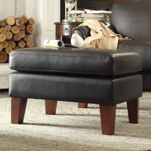 HomeVance Remmington Faux-Leather Ottoman
