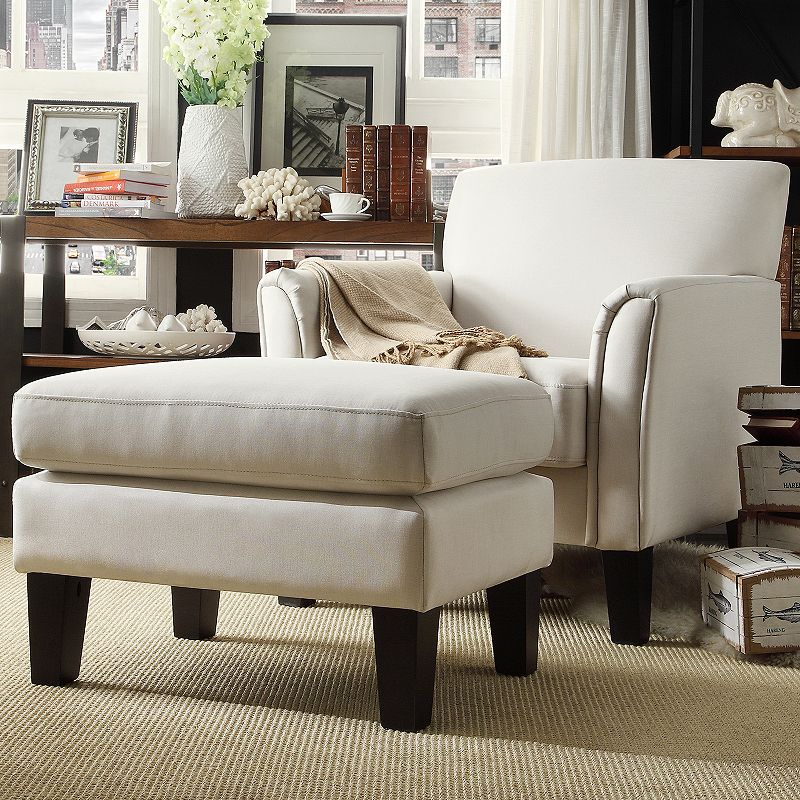 HomeVance 2-piece Remmington Arm Chair and Ottoman Set