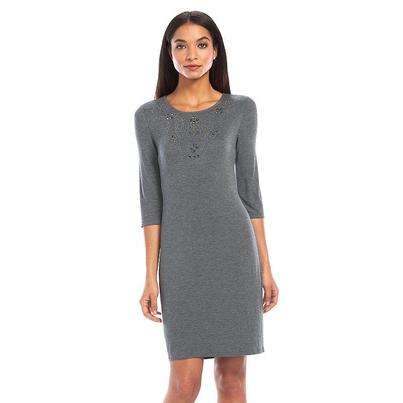 Apt. 9® Embellished Sheath Dress - Women's