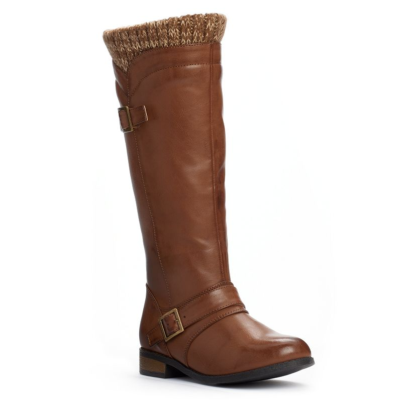 Unionbay Rolls Girls' Sweater-Knit Tall Boots