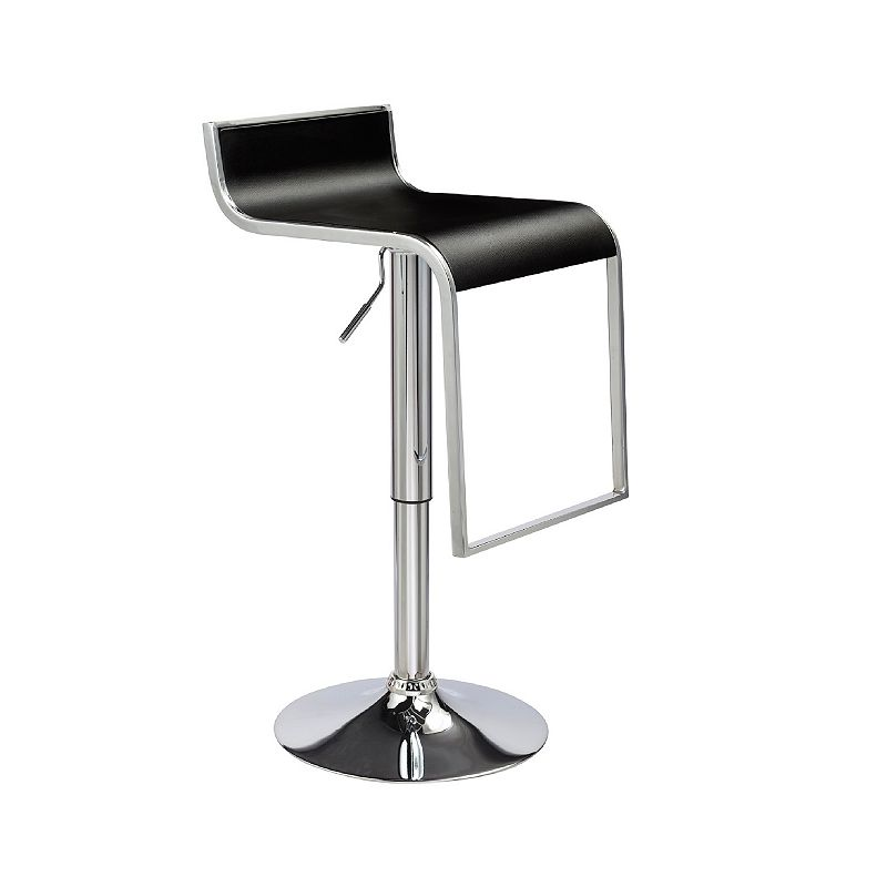 Techni Mobili Adjustable Swivel Chrome Bar Stool