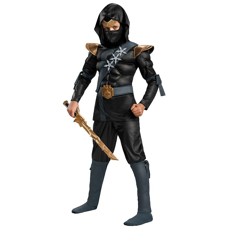 Black Master Ninja Costume - Kids